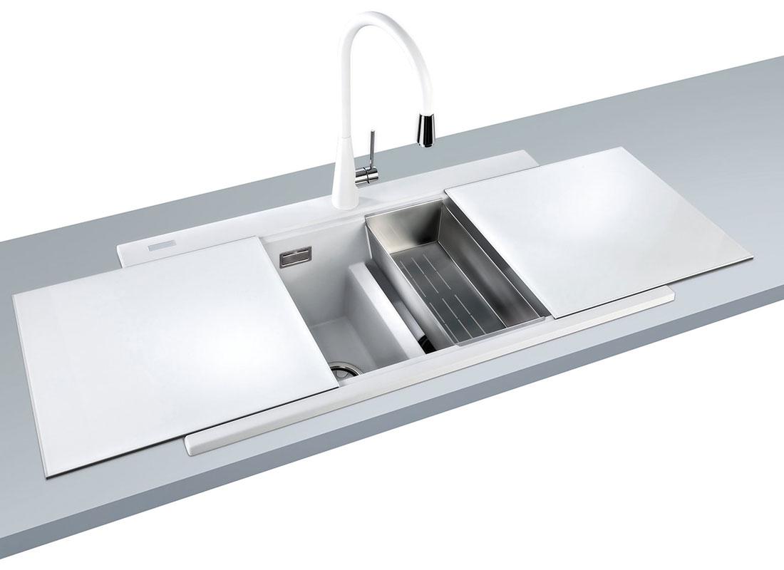 Lavelli in acciaio inox e fragranite a salzano venezia - Lavelli cucina in fragranite ...